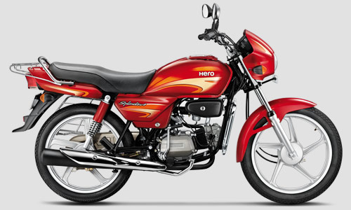 Hero Splendor+ red side