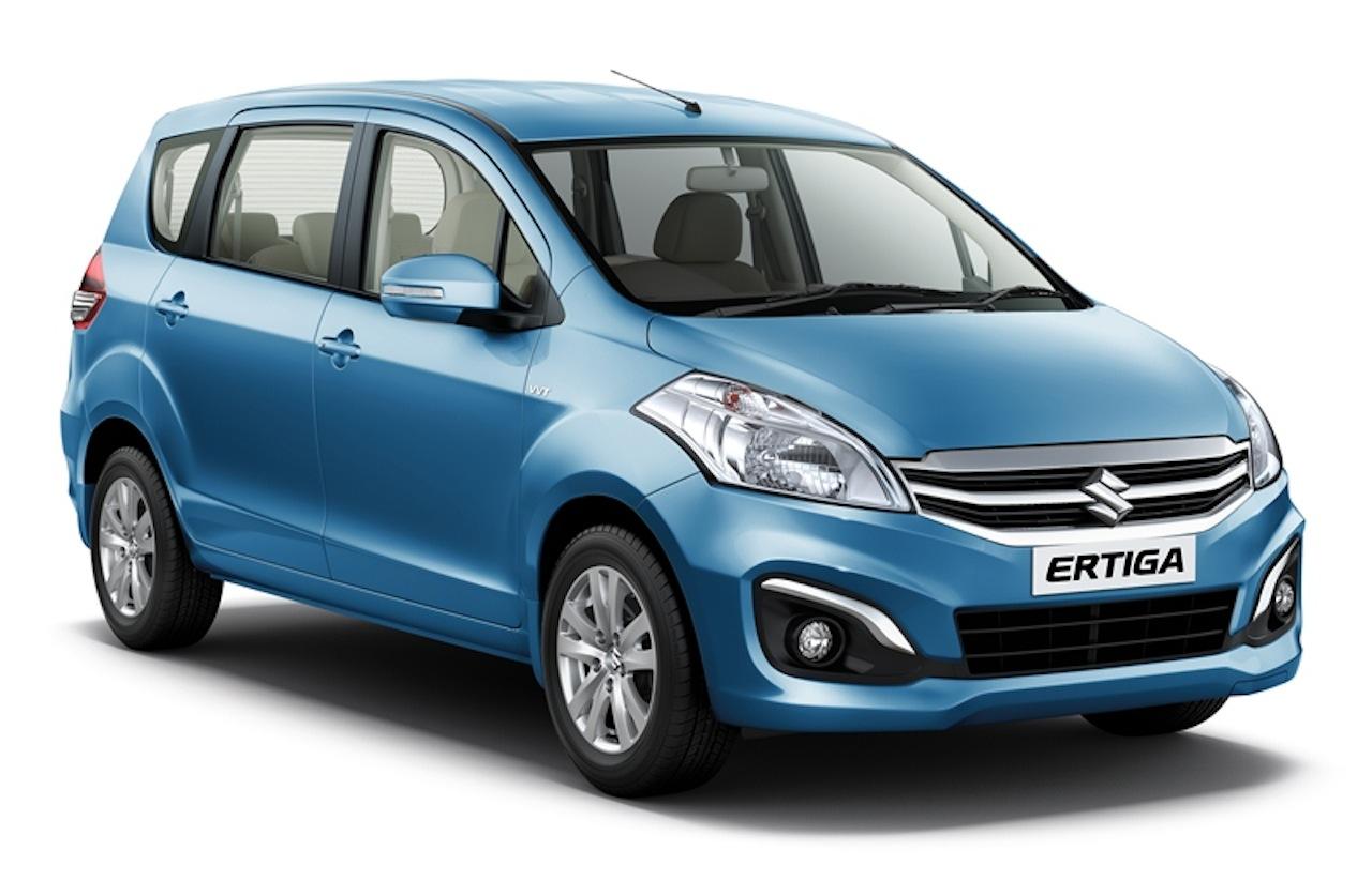 Maruti Ertiga facelift front quarters press shots