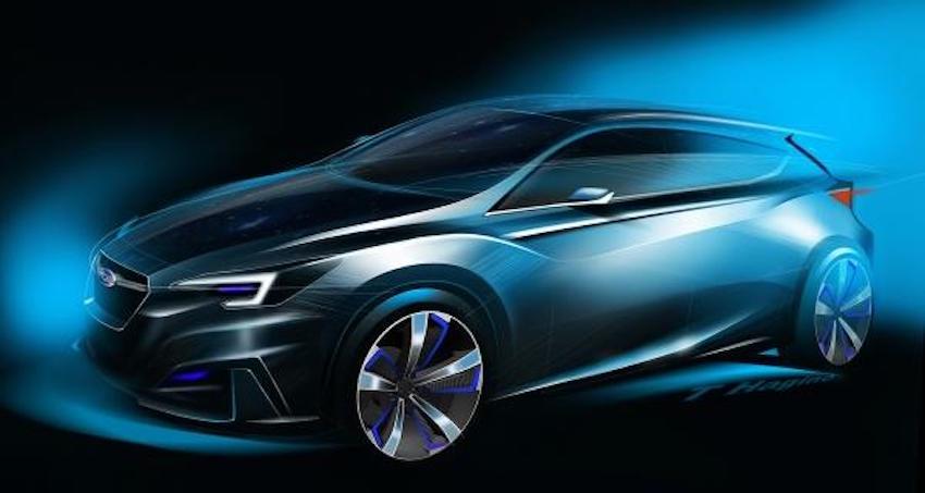 Subaru Impreza Concept front three quarter unveiled
