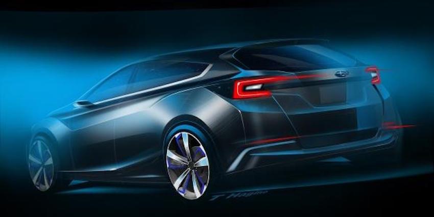 Subaru Impreza Concept rear three quarter unveiled