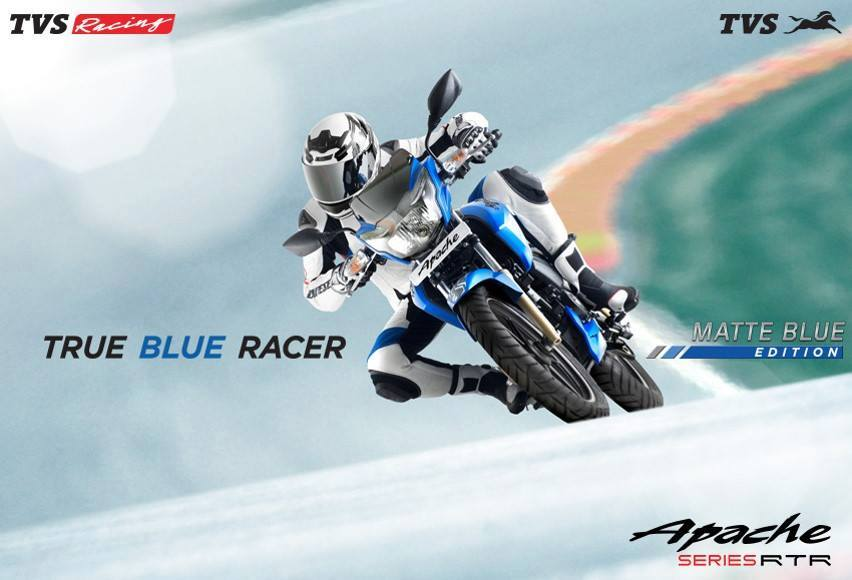 TVS Apache RTR 180 Matte Blue wallpaper