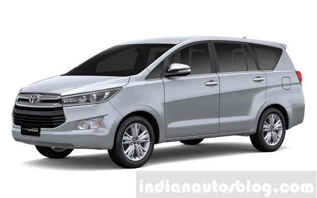2016 Toyota Innova Silver Metallic press images