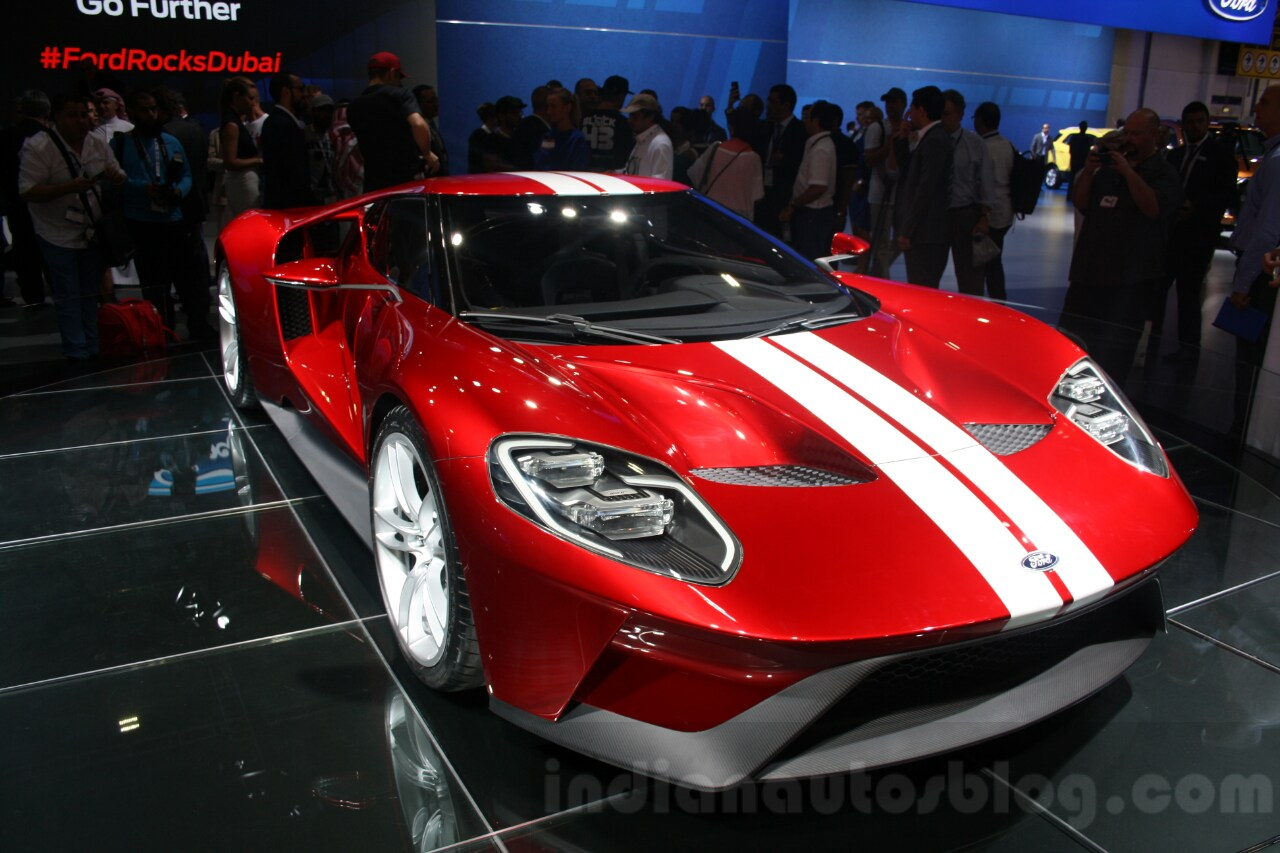 Ford Gt Front Quarter At The  Dubai Motor Show