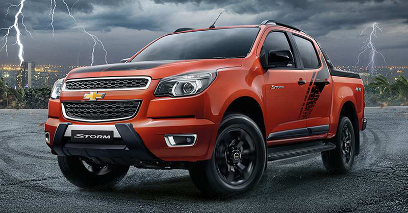 Chevrolet Colorado High Country Storm front three quarter for Thailand