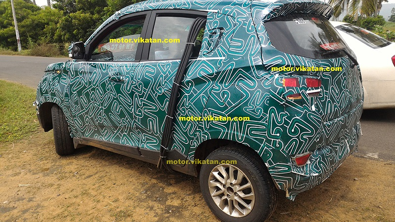Mahindra S101 side spied with new alloy wheels