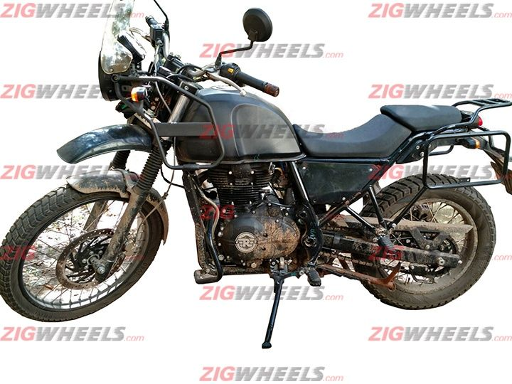 Royal Enfield Himalayan side prototype spied