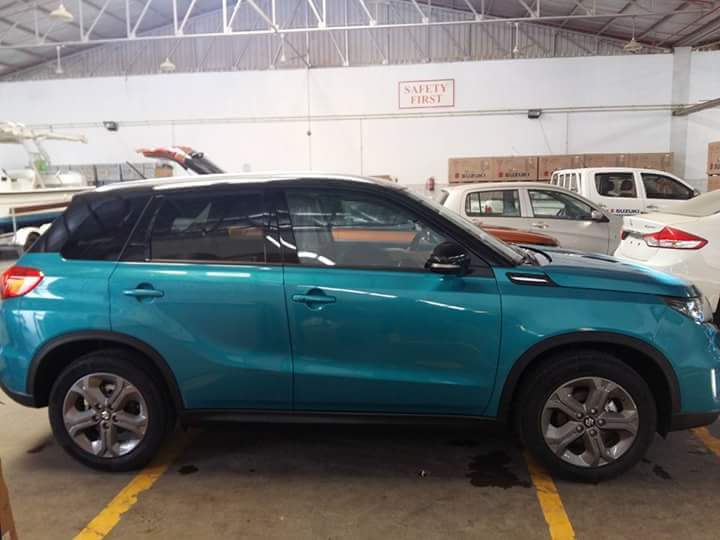Suzuki Vitara compact SUV side snapped in India