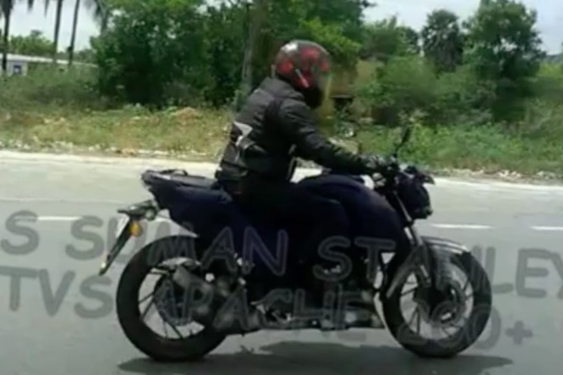 TVS Apache 200 spotted on NH4