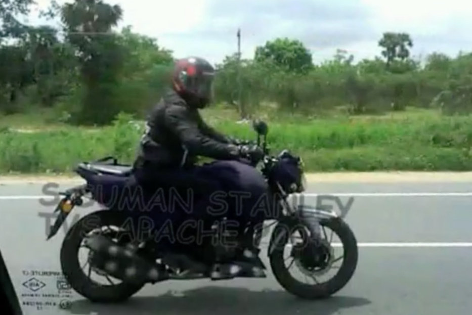 TVS Apache 250 spyshot spied on NH4