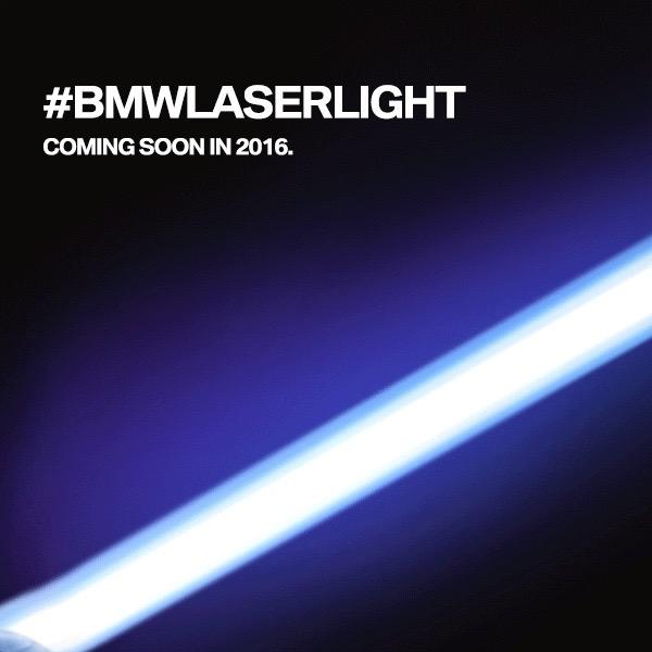 2016 BMW 7 Series Laser headlamp teaser