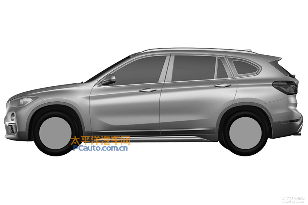 2016 BMW X1 LWB left side patent image