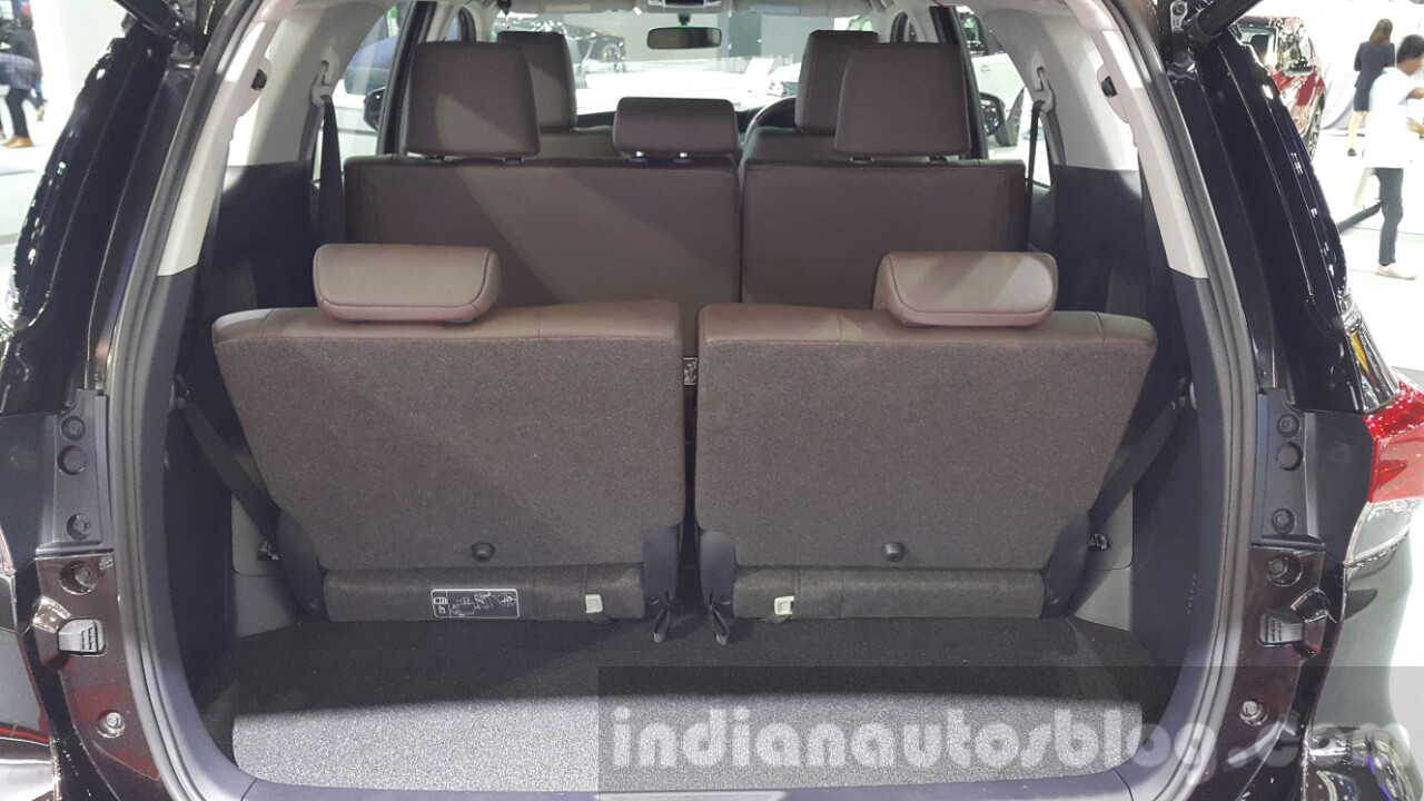 2016 Toyota Fortuner Boot Space At 2015 Thailand Motor Expo