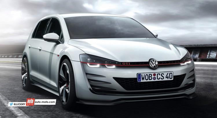 2017 VW Golf GTi rendering