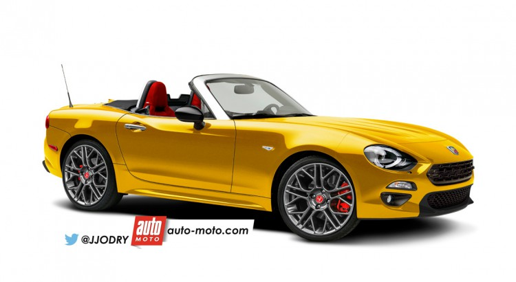 Fiat Abarth 124 Spider front three quarters rendering