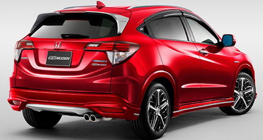 Honda Vezel Mugen rear revealed