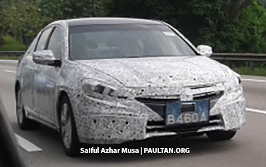 New Proton Perdana front spotted with production-spec body