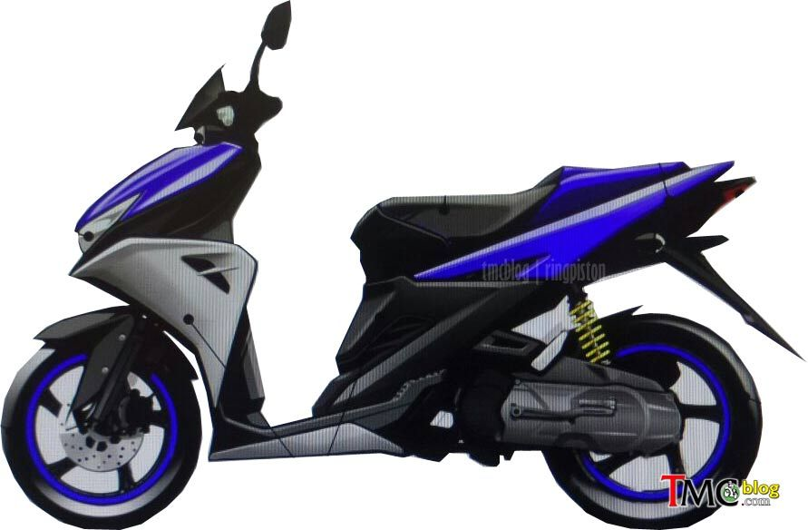 Yamaha Aerox 125 Concept side for Indonesia