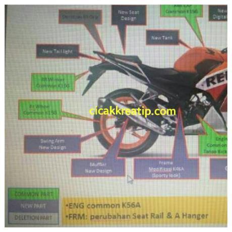 2016 Honda CBR150R (facelift) presentation rear leaked