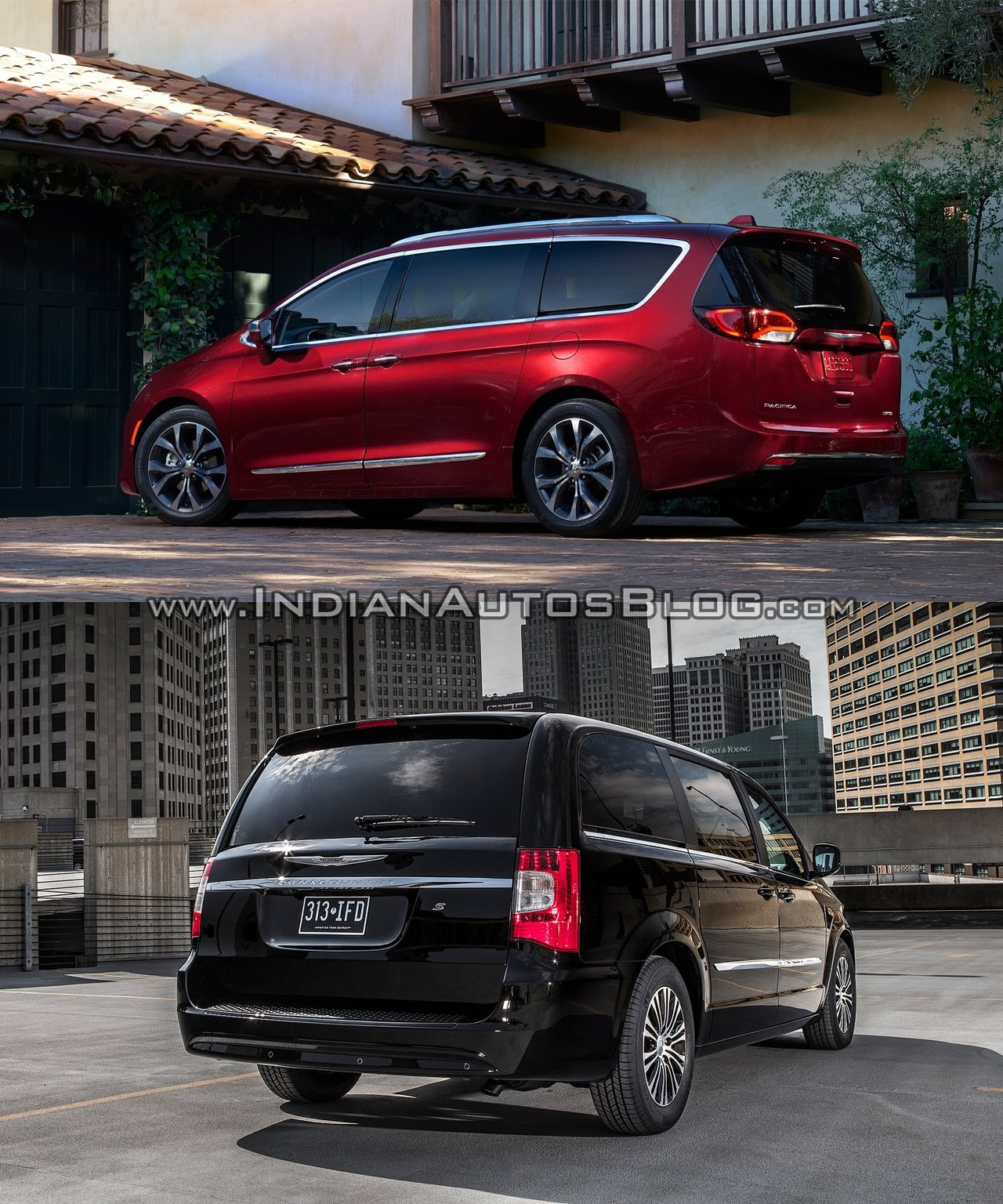 chrysler pacifica vs chrysler town country pictorial. Black Bedroom Furniture Sets. Home Design Ideas