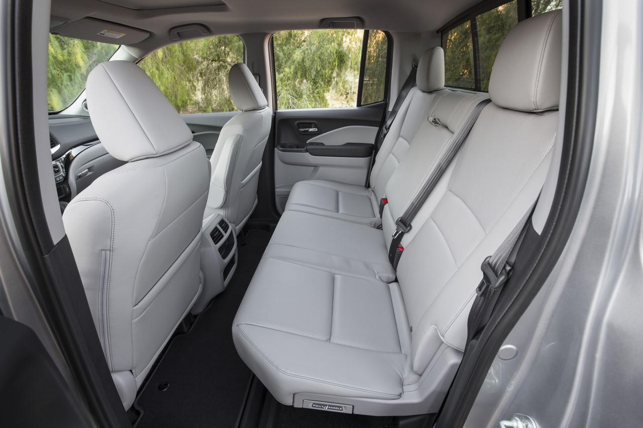 2017 Honda Ridgeline rear seats