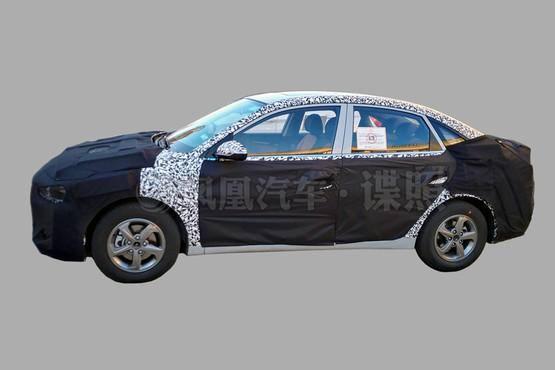 2016 Hyundai Verna side spied
