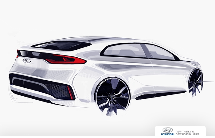 Hyundai Ioniq rear three quarters right side rendering