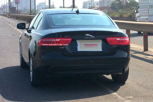 Jaguar XE rear spied in India