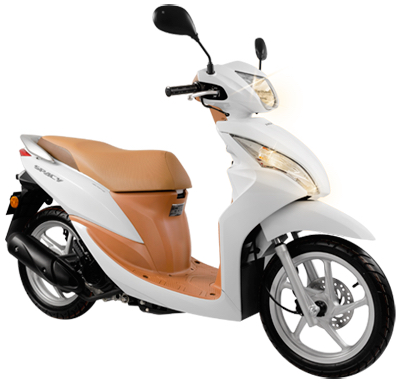 New Honda Spacy Pearl Metalloid White