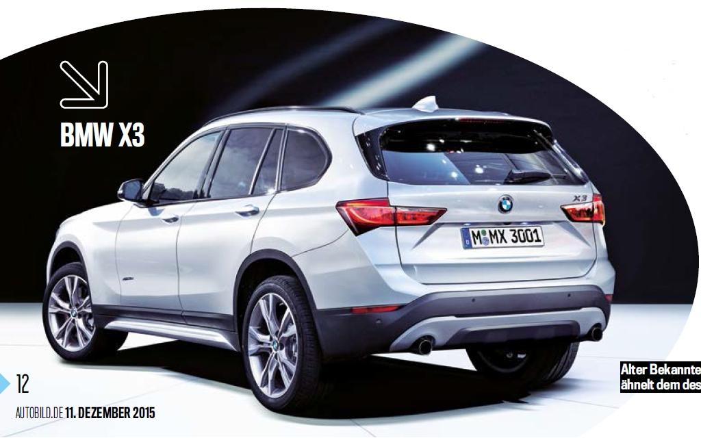 Next Generation BMW X3 Rear Three Quarter Rendering