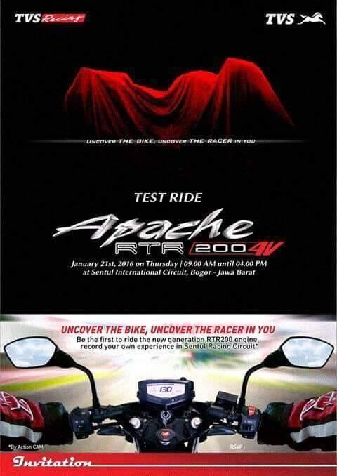 TVS Apache RTR 200 4V test ride contest
