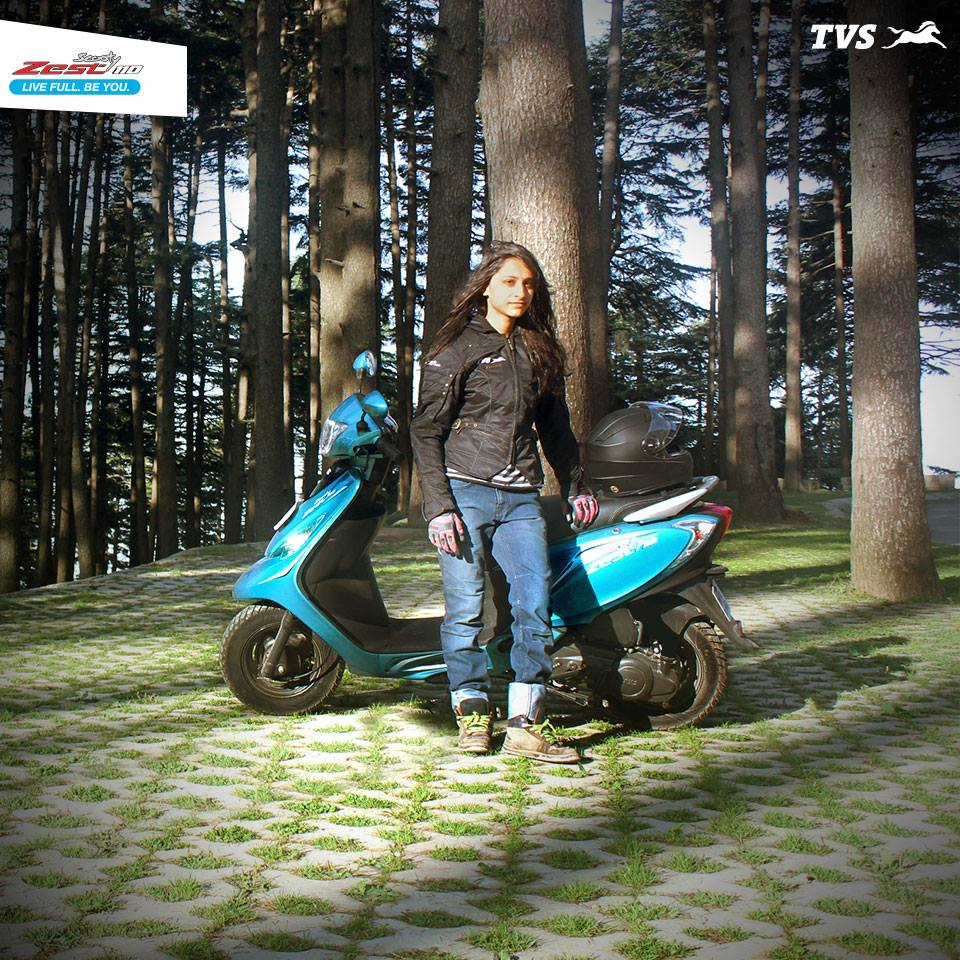 TVS Scooty Zest 110 travels to Khardung La Anam Hashim