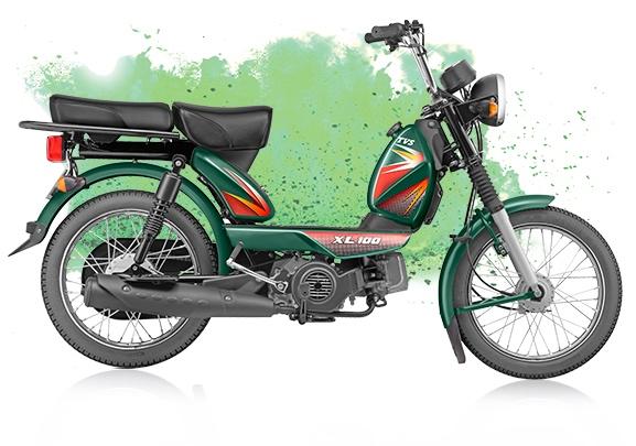 TVS XL 100 4-stroke green