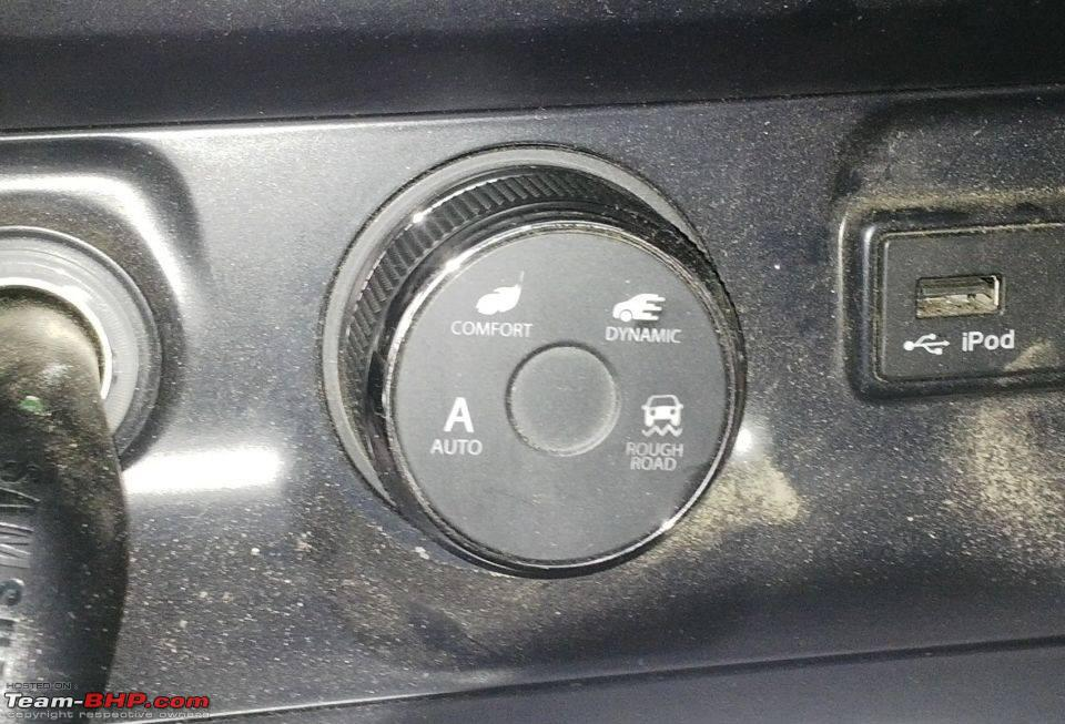 Tata Hexa Drive Mode selector snapped in Sikkim