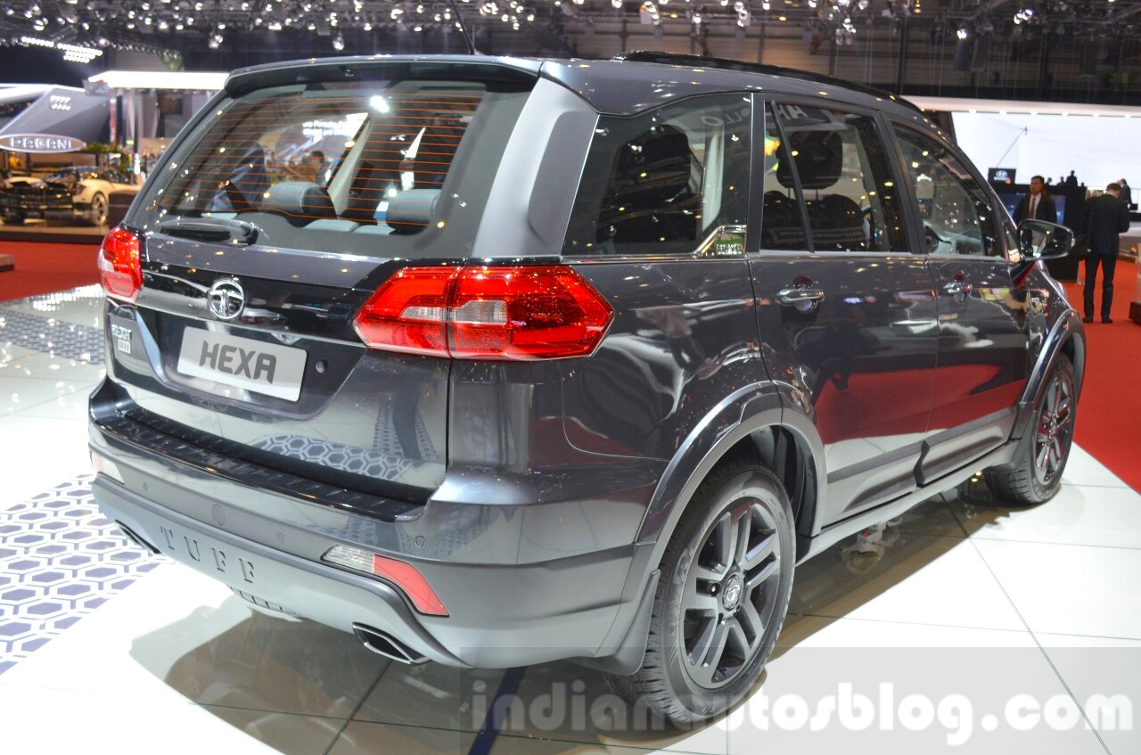 Tata Hexa Tuff rear three quarters at Geneva Motor Show 2016
