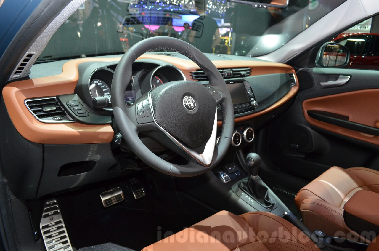 2016 Alfa Romeo Giulietta (facelift) interior at the 2016 Geneva Motor Show