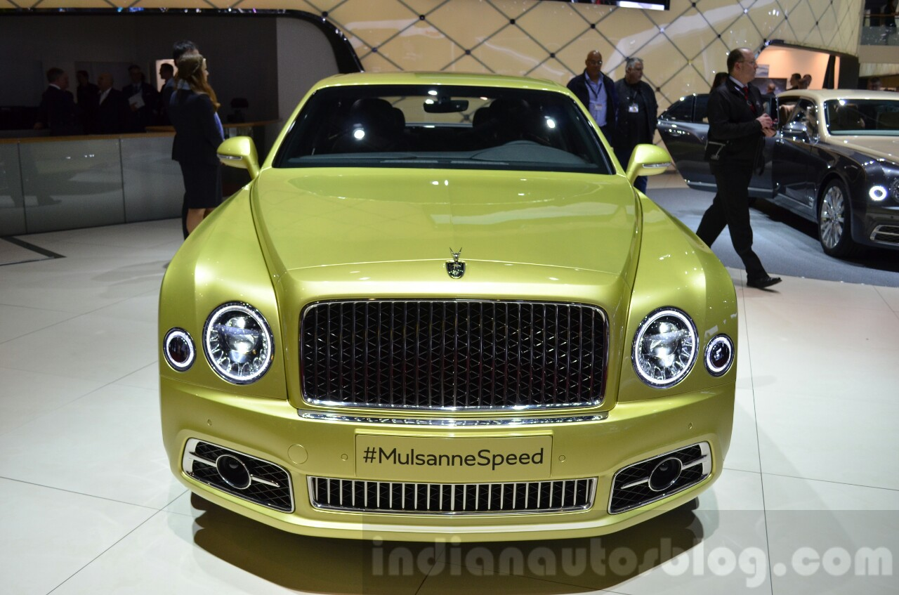 2016 Bentley Mulsanne Speed (facelift) front at the 2016 Geneva Motor Show Live
