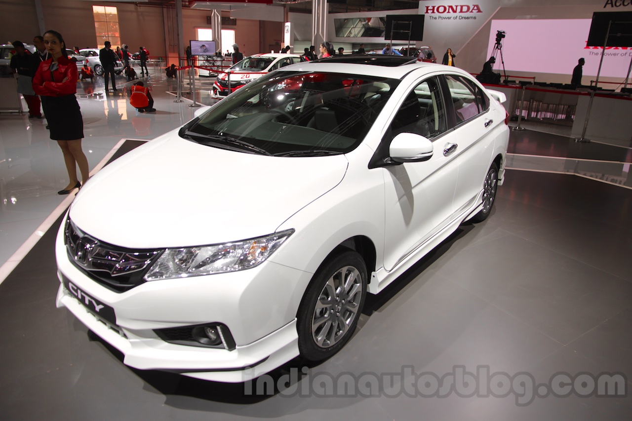 Great 2016 Honda City Black Interior With Accessories Front Three Quarters Right  At Auto Expo 2016