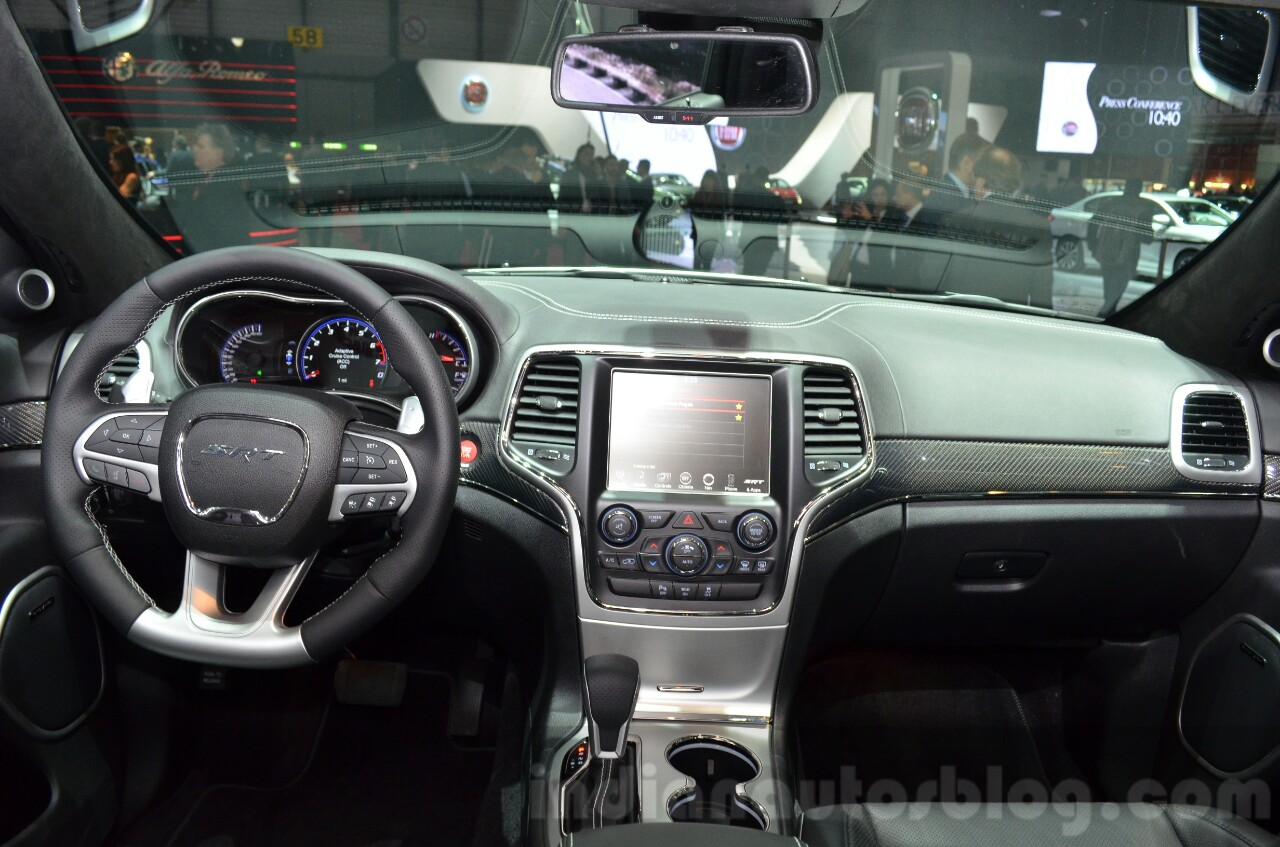 2016 Jeep Grand Cherokee SRT Night dashboard at the Geneva Motor Show Live