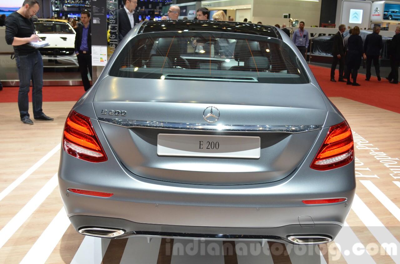 2016 Mercedes E Class (W213) rear at the Geneva Motor Show Live