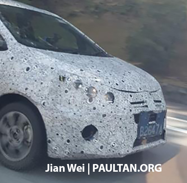 2016 Proton Persona front quarter snapped testing