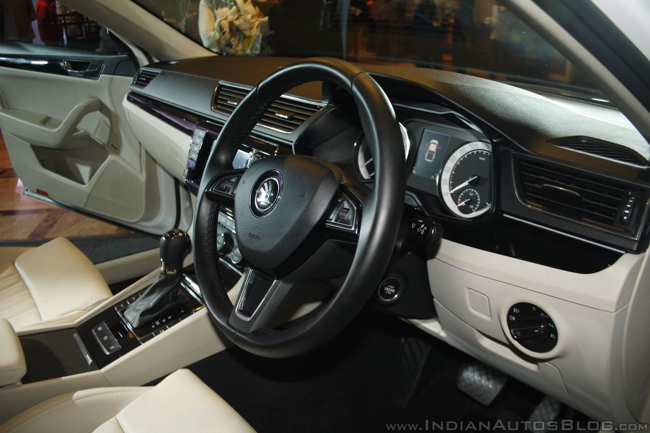 2016 Skoda Superb interior launched in India