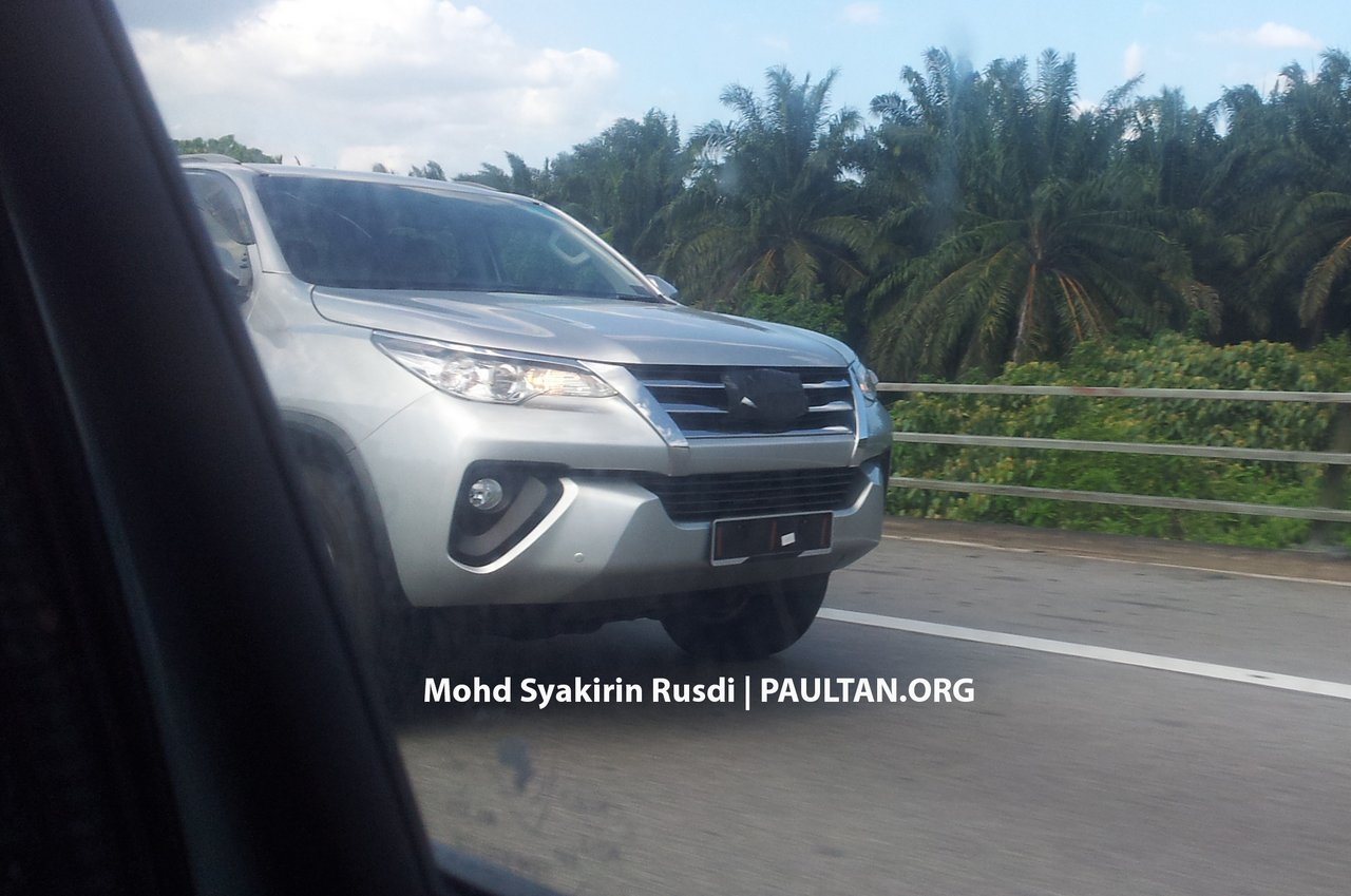 2016 Toyota Fortuner front bumper spied in Malaysia