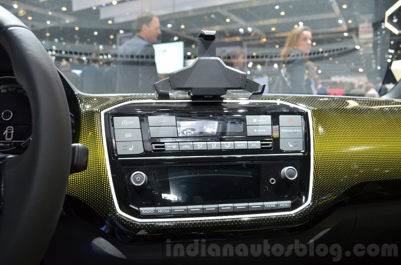 2016 VW Up! (facelift) center console at the 2016 Geneva Motor Show