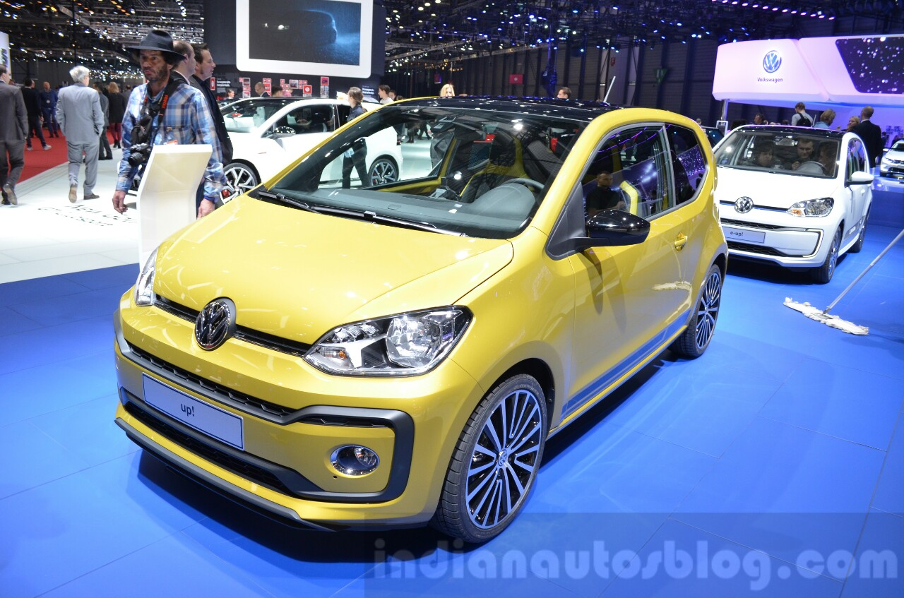 2016 VW Up! (facelift) front quarter at the 2016 Geneva Motor Show