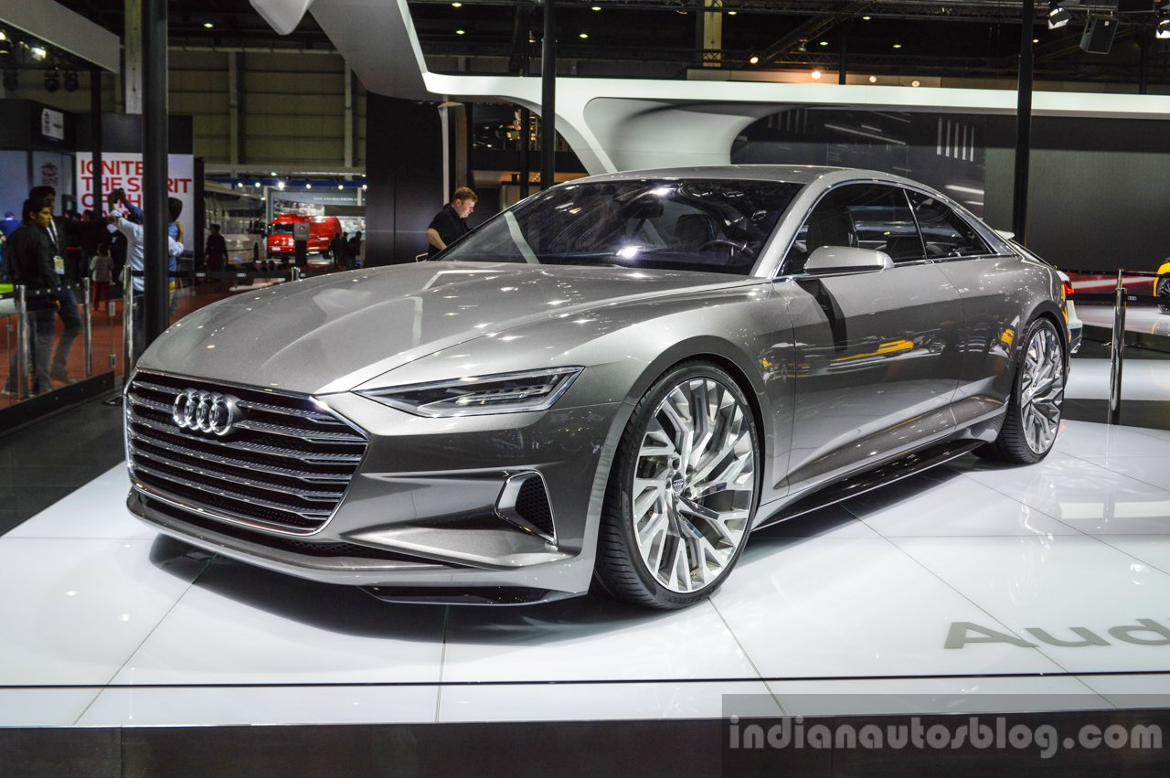 Audi Prologue concept front three quarters left at Auto Expo 2016