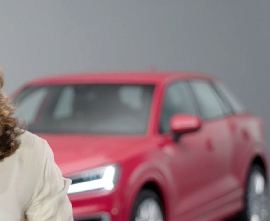 Audi Q2 teaser revealing front and front three quarters
