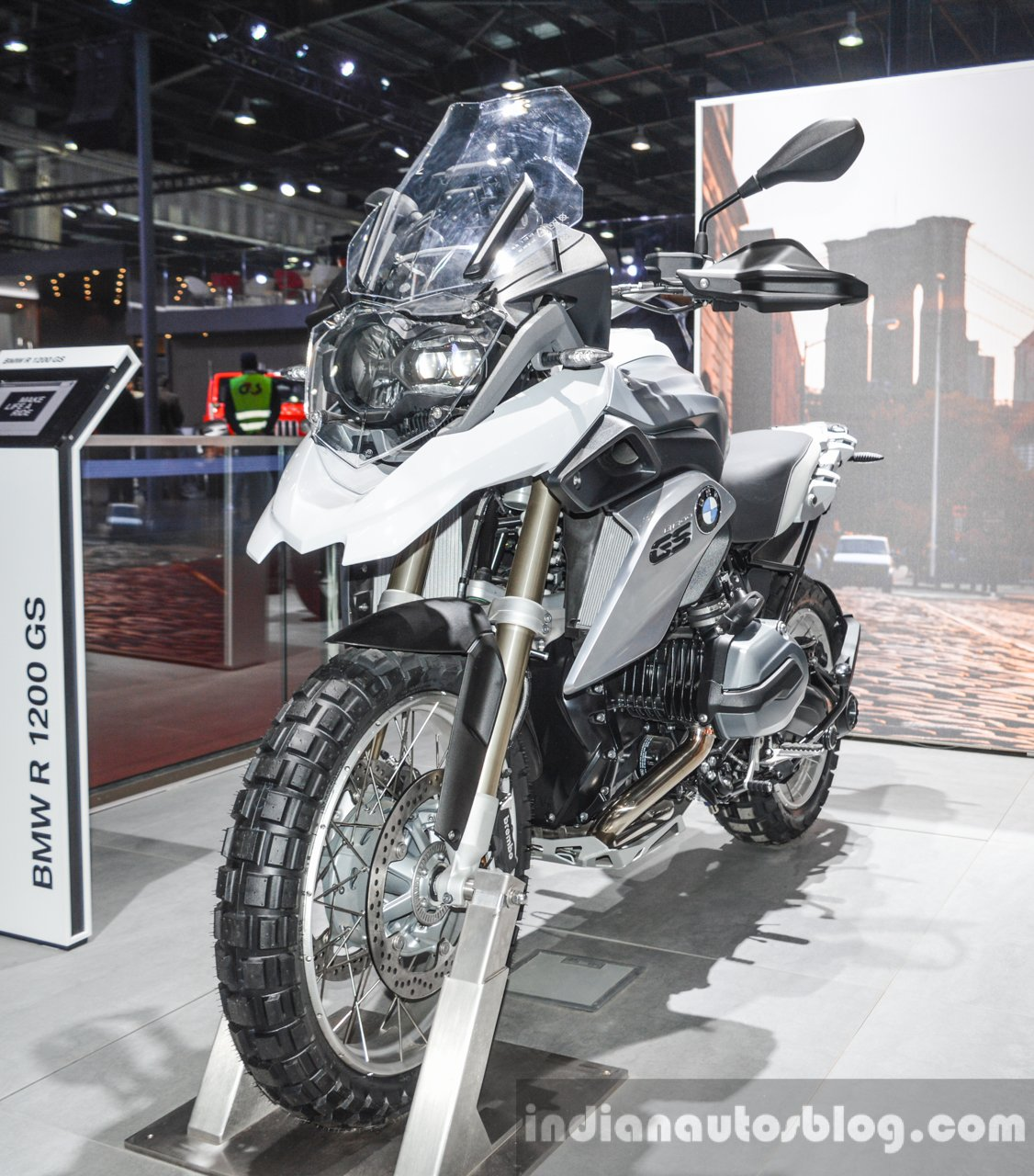 BMW R1200GS front quarter at Auto Expo 2016