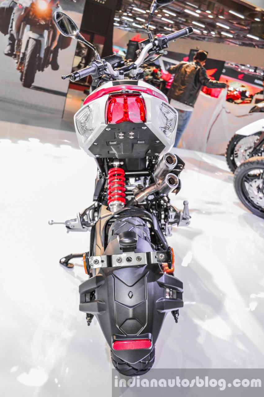 Benelli Tornado Naked T-135 rear at Auto Expo 2016