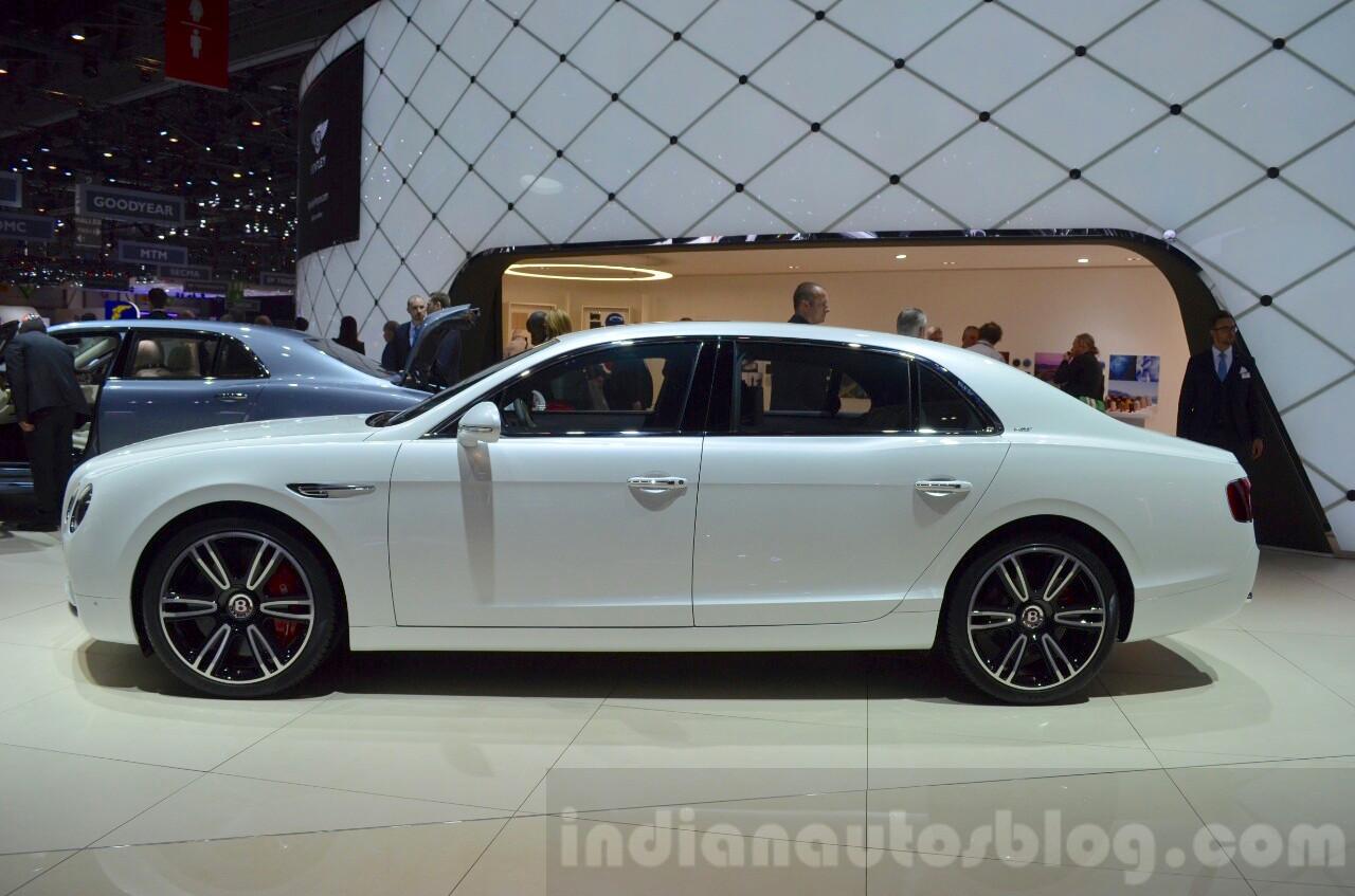 Bentley Flying Spur V8 S side at the 2016 Geneva Motor Show Live
