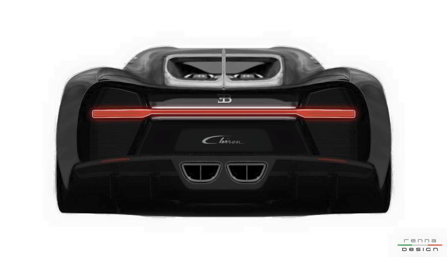 Bugatti Chiron Grand Sport rear rendering